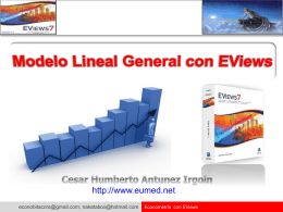 Modelo Lineal General con EViews