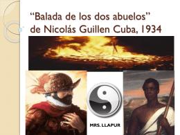 Balada de los dos abuelos by Mrs. Llapur