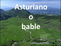 Asturiano o bable