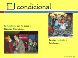 El condicional - WordPress.com