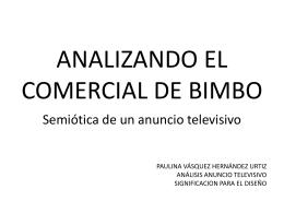 Análisis Anuncio Bimbo