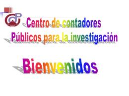 Descargar aqui - Centro de Contadores Públicos para la Investigación