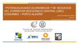 Potencialidades Económicas y de Negocios del Corredor