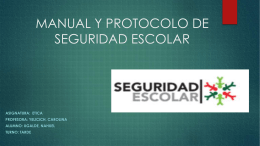 manual y protocolo de seguridad escolar