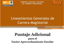 COMISIÓN NACIONAL SEP-SNTE DE CARRERA MAGISTERIAL