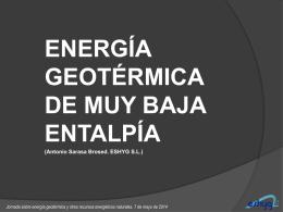 energia geotermica de baja entalpia