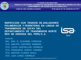 MANTENIMIENTO DE LINEAS DE TRANSMISION