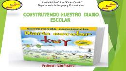 """8. el diario escolar - Liceo de Adultos """" Luis Gómez Catalán"""