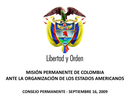 misión permanente de colombia ante la organización de los estados