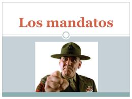Los mandatos ¿Cómo habla el sargento con sus