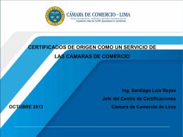 Certificado de Origen como un Servicio de las Camaras