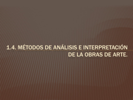 1.4. Métodos de análisis e interpretación de la obras de arte.