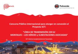 """""""Línea de Transmisión 220 kV Montalvo-Los Héroes y"""