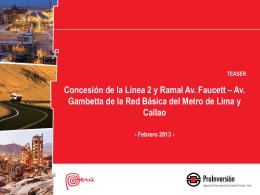 TEASER Concesión de la Línea 2 y Ramal Av. Faucett