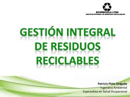 gestión integral de residuos reciclables