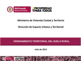 ordenamiento territorial del suelo rural