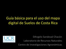 Guía Mapa Digital de Suelos - Centro de Investigaciones Agronómicas