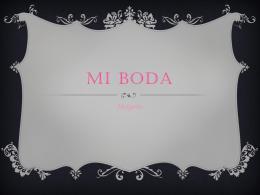 Mi Boda - Margarita