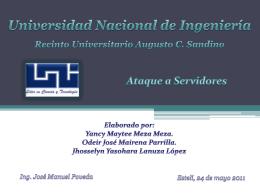 Ataque a Servidores - Ing. José Manuel Poveda