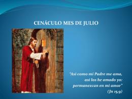 Cenáculo mes de julio (diapositivas)
