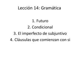 Lección 14: Gramática