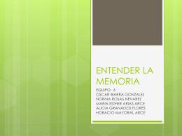 ENTENDER LA MEMORIA - Horacio Mayoral Arce