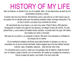 HISTORY OF MY LIFE