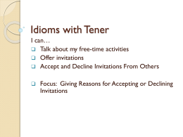 Idioms with Tener