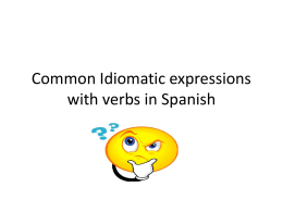 Common Idiomatic expession with verbs