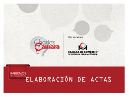 Aprobación del acta - Cámara de Comercio de Medellín