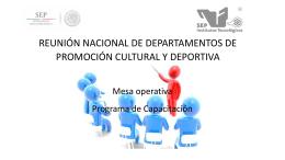 reunion nacional de departamentos de promosion cultural y deportiva