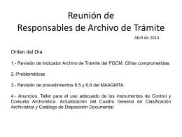 Reunión de Responsables de Archivo de Trámite