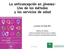 La anticoncepción en jóvenes: Uso de los métodos y los servicios