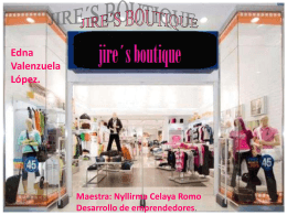 TRABAJO FINAL,JIRE´S BOUTIQUE