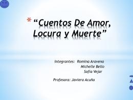 Cuentos De Amor, Locura y Muerte (1)