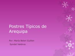 Postres Típicos de Arequipa 2