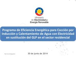 Diapositiva 1 - Ministerio de Electricidad y Energía Renovable