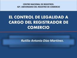 el control de legalidad a cargo del registrador de comercio