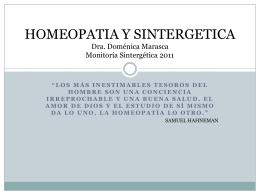 Homeopatía y Sintergética