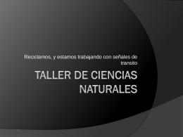 Taller de ciencias naturales
