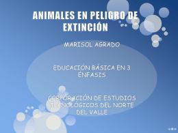 ANIMALES EN PELIGRO DE EXTINCIÓN - tic-uso