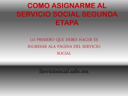 como asignarme al servicio social segunda etapa