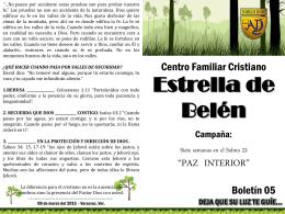 Paz interior boletin 5 - CFC Estrella de Belen