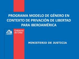 Slide 1 - Ministerio de Justicia