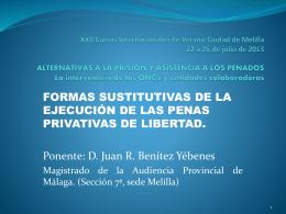 Formas sustitutivas de la ejecución de las penas privativas de libertad.