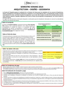 Oferta detallada de Semestre de Verano (, 120 KB)