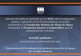Auditoría de Gestión Programa *Misión Sueños Compartidos