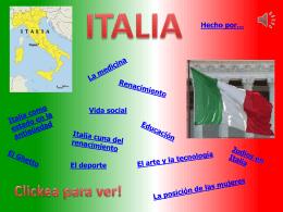 Italia cuna del renacimiento
