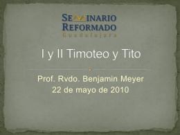 Hechos y las cartas de Pablo - Seminario Reformado Guadalajara