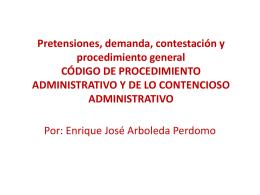 Pretensiones, demanda, contestación y procedimiento